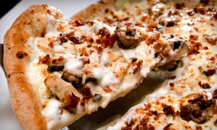 Wheat State Pizza - Derby: Pizza, Calzones, and Sandwiches at Wheat State Pizza (Up to 52% Off). Two Options Available.
