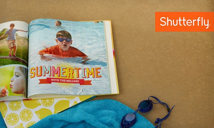 Customizable Photo Book from Shutterfly: 8x8 or 8x11 Custom Photo Book from Shutterfly (Up to 67% Off)
