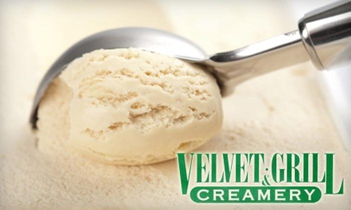 Velvet Grill & Creamery - Multiple Locations: $8 for $16 Worth of Burgers, Breakfast, Drinks, and More at Velvet Grill & Creamery