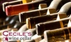 Cecile's Wine Cellar - McLean: $25 for $50 Worth of Wine and Accessories at Cecile's Wine Cellar