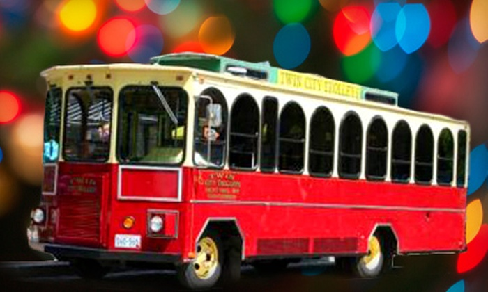 Twin City Trolleys - Concord-Robert: Two-Hour Holiday Light Tour Outing or Three-Hour Trolley Rental from Twin City Trolleys (Up to 51% Off)