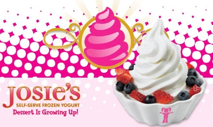Josie's Self-Serve Frozen Yogurt - Multiple Locations: $5 for $10 Worth of Josie's Self-Serve Frozen Yogurt