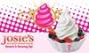 Josie's Self-Serve Frozen Yogurt - Multiple Locations: $5 for $10 Worth of Josie's Self-Serve Frozen Yogurt