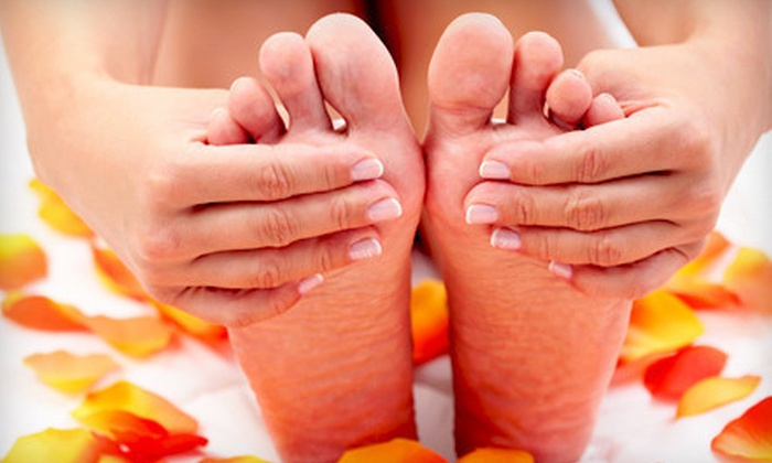 Spa at Manhattan Studios - Hanahan: Shellac Manicure or a Deluxe Mani-Pedi at Spa at Manhattan Studios in Hanahan (Half Off)