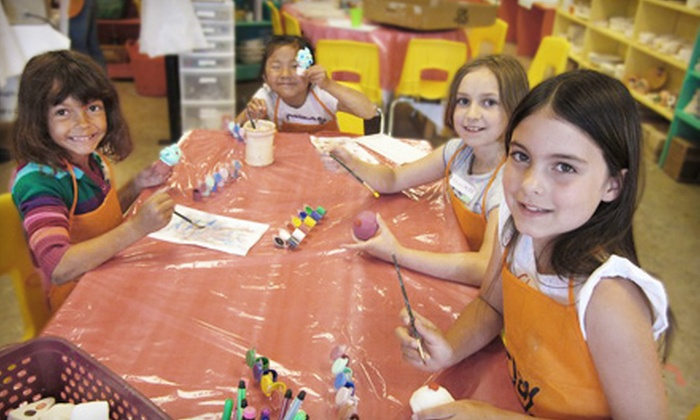 Clay for Kids - Dear Run: One or Three Paint N' Go Drop-In Pottery-Painting Sessions with Bisques at Clay for Kids (Up to 54% Off)