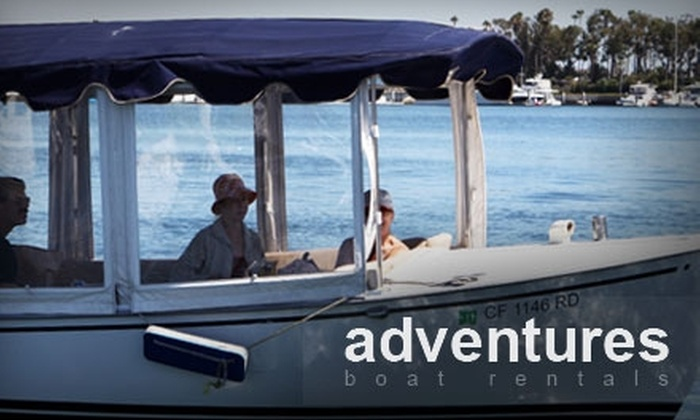 Adventures Boat Rentals - Newport Beach: $49 for a 90-Minute Duffy Boat Rental for up to 12 People from Adventures Boat Rentals ($120 Value)
