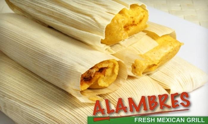 Alambres Fresh Mexican Grill - Burbank: $7 for $15 Worth of Mexican Fare at Alambres Fresh Mexican Grill in Burbank