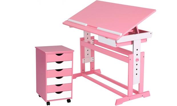 Missing discount value bureau r glable en bois pour - Bureau en bois pour enfant ...