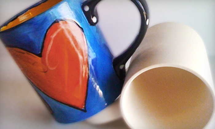Brush Fire Ceramic Studio - J. B. Mitchell: $14 for an Unfinished Bisque Coffee Mug and Studio Time at Brush Fire Ceramic Studio (Up to $35.56 Value)