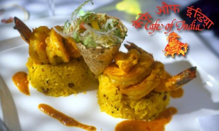 Café of India - Harvard Square: $15 for $30 Worth of Traditional Indian Cuisine at Café of India