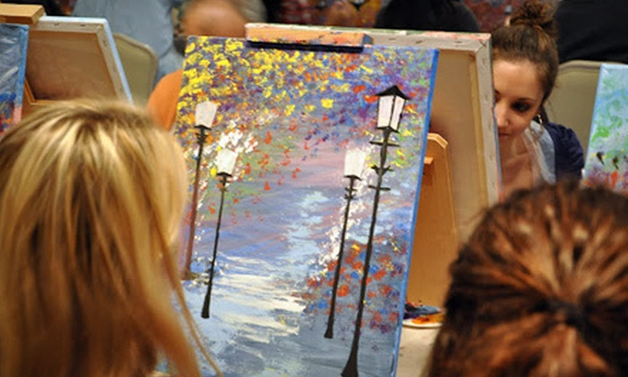 Art By The Glazz - Multiple Locations: $25 for One Adult Painting Class with a Glass of Wine at Art By The Glazz ($55 Value). Three Locations Available.