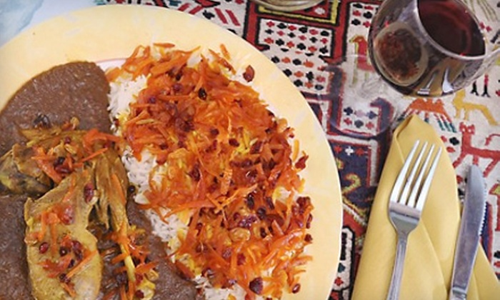 Orchard Market and Café - Towson: Persian Dinner for Two Including Two Soups or Salads and Two Entrees at Orchard Market and Café in Towson