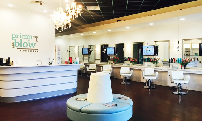 Primp and Blow, A Blow Dry Bar - The Shops of Legacy: $26 for a Blowout with Hair Therapy and a Scalp Massage at Primp and Blow, A Blow Dry Bar ($55 Value)