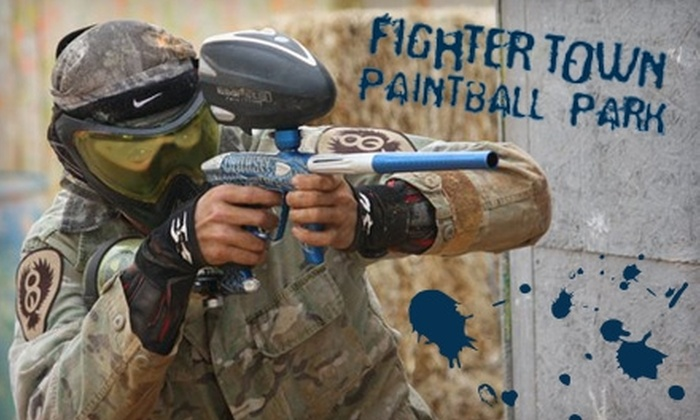 Fightertown Paintball Park - Wickenburg: $25 for Admission, Gun and Mask Rental, Unlimited Air, and 500 Paintballs at Fightertown Paintball Park in Surprise