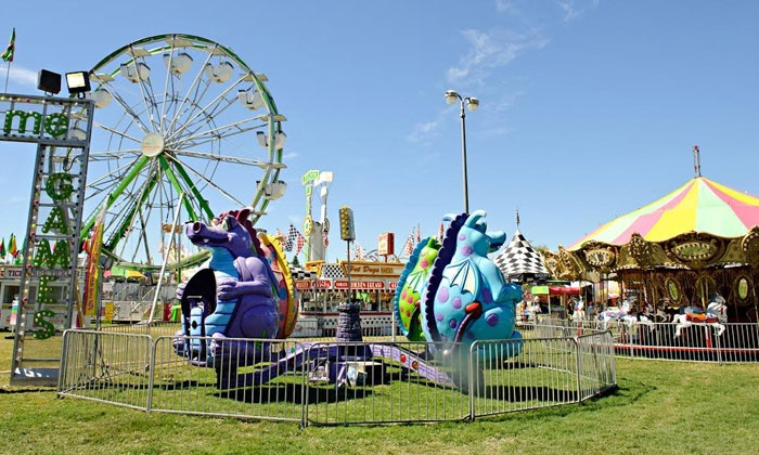 Midway of Fun - Florin: $30 for 60 Ride Tickets or Two Unlimited Ride Wristbands at The Lunar Flower Festival ($60 Value)