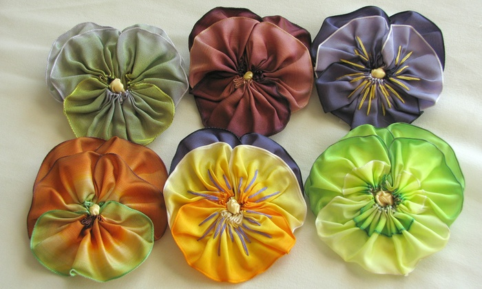 Get Crafty at a Fabric Flower Making Workshop with an Artist - San Francisco: Tap into your inner DIYer as you learn how to craft stylish, artful ribbon pansies from scratch alongside an expert.