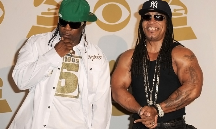 Grand Master's Furious Five: Melle Mel & Scorpio - Studio Movie Grill: Grandmaster's Furious Five: Melle Mel & Scorpio at Studio Movie Grill on June 25 (Up to 30% Off)