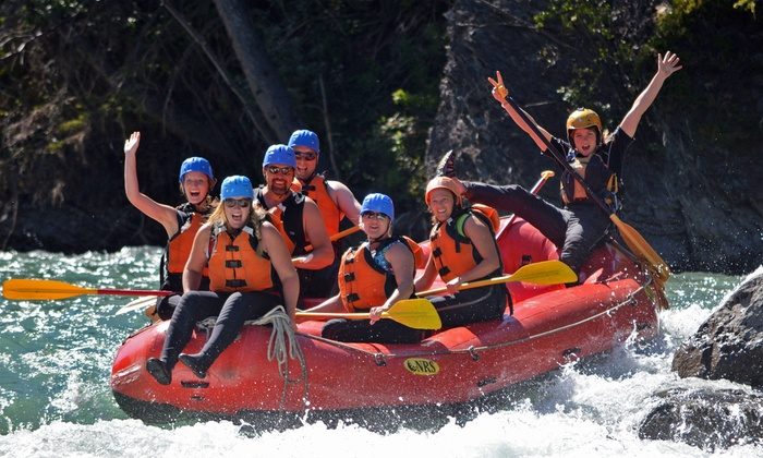 Canadian Rockies Rafting - Rafting Base: Kananaskis or Bow River Rafting Trip for One, Two, or Four from Canadian Rockies Adventure Centre (Up to 55% Off)