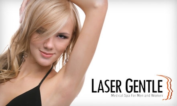 Laser Gentle Medical Spa - Multiple Locations: $99 for Three Laser Hair-Removal Treatments for One Area at Laser Gentle Medical Spa (Up to a $447 value)