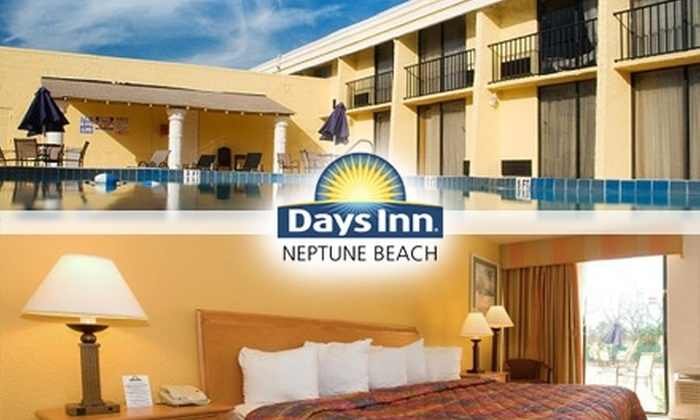 Days Inn Neptune Beach - Neptune Beach: $40 for a One-Night Stay in Either a King or Double Room at Days Inn Neptune Beach (Up to $81 Value)