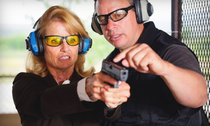 DFW Shooters Academy - Multiple Locations: Shooting-Range Package with Lesson, Gun, and Ammo for Two or Four from DFW Shooters Academy (Up to 58% Off)