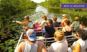 Everglades Safari Park: Eco-Adventure Airboat Tour for One, Two, or Four at Everglades Safari Park (Up to20% Off)