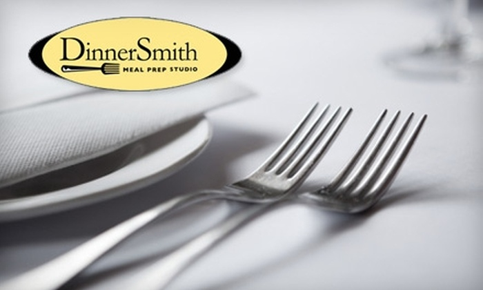 DinnerSmith - South Orange Village: $39 for Three Pre-Prepared Meals Ready to Make at Home for up to Six People from DinnerSmith ($81 Value)