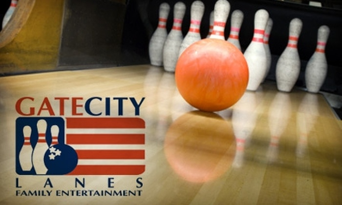 Gate City Lanes - Greensboro: $6 for Two Games of Bowling, Shoe Rental, and One Soda at Gate City Lanes ($13.77 Value)