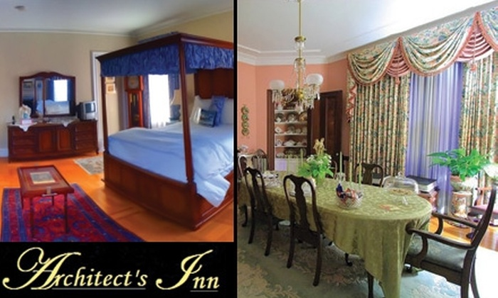 Architect's Inn Bed and Breakfast - Newport: $199 for a One-Night Stay at Architect's Inn Bed and Breakfast (Up to $399 Value)
