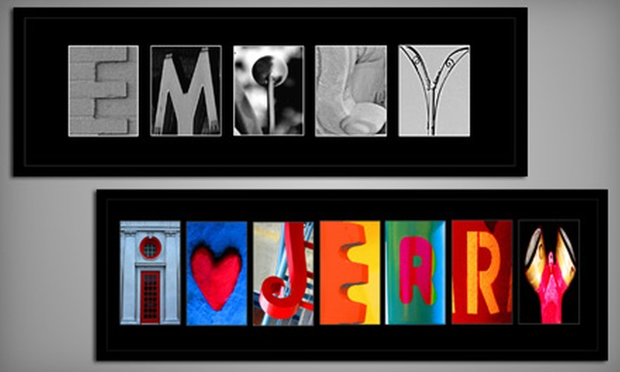 Hal Jaffe Name Art: $65 for 3 to 11 Letters of Photographic Name Art from Hal Jaffe Name Art ($159.95 Value)