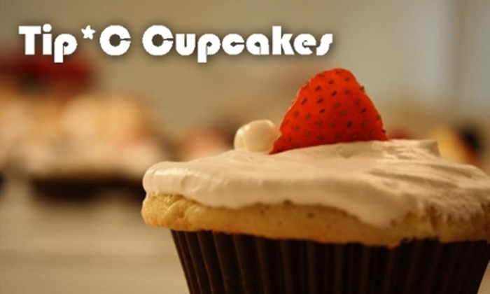 Tip*C Cupcakes - Waxhaw: $15 for a Dozen Alcohol-Enhanced Cupcakes from Tip*C Cupcakes