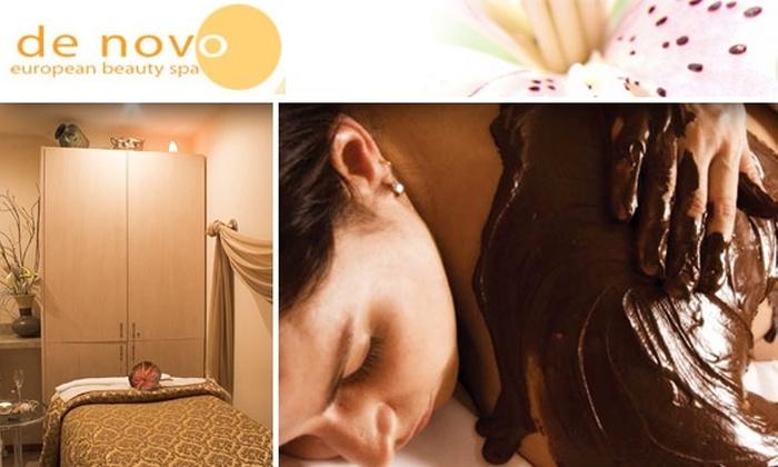 De Novo European Spa - Clinton: Lemon-Chiffon or Chocolate-Truffle Body Scrub Treatment at De Novo European Spa