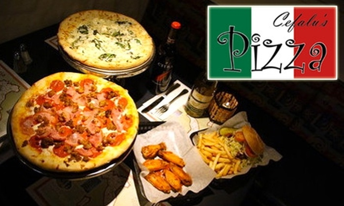 Cefalu's Pizza - Old Town: $10 for $25 Worth of Pizza Pies, Pasta, Sandwiches, and Drinks at Cefalu's Pizza