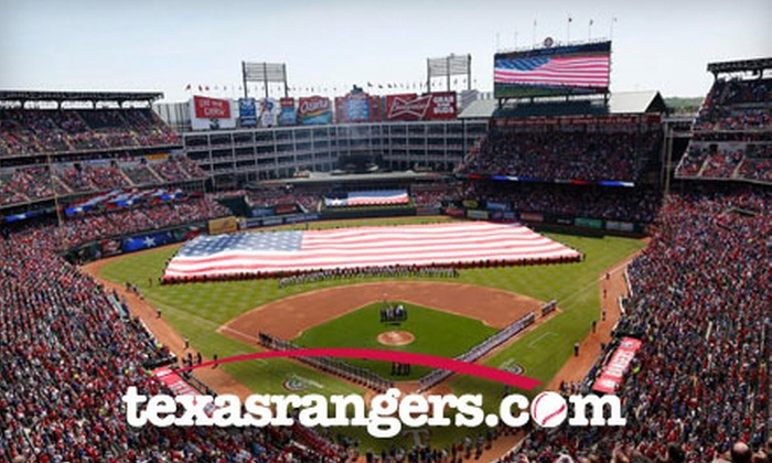 Texas Rangers - Arlington: Texas Rangers Game at Rangers Ballpark (Up to 38% Off). Seven Options Available.