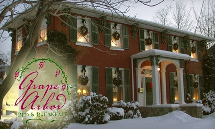 Grape Arbor Bed and Breakfast - North East: $89 for a One-Night Stay and a Bottle of Wine at Grape Arbor Bed and Breakfast in North East Pennsylvania