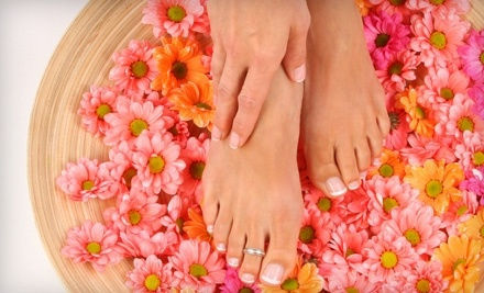 Glamour Manicure and Sports Spa Pedicure (a $45 value) - Glamour Nails & Spa in Rowlett
