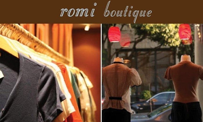 Romi Boutique - University South: $50 for $100 Worth of Trendy Designer Apparel and Accessories at Romi Boutique
