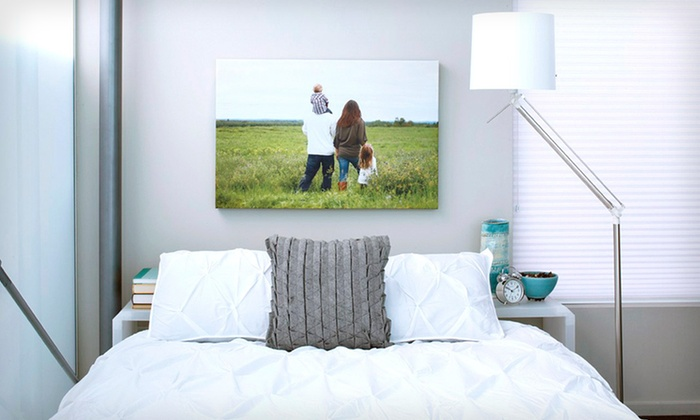"Gallery-Wrapped Canvas Print: 16""x20""x1.5"" or 20""x30""x1.5"" Gallery-Wrapped Custom Photo Canvas Print from CanvasPop (Up to 63% Off). Free Shipping."