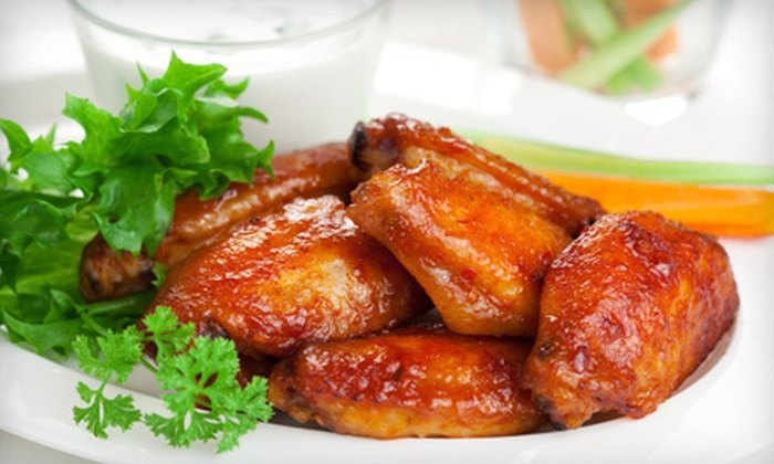 Buffalo Wings & Pizza - Sunkist Park: Chicken Wings, Pizza, and Burgers at Buffalo Wings & Pizza (Half Off). Three Options Available.