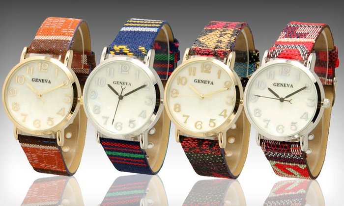 Geneva Women's Tribal Watches: $10 for a Geneva Women's Tribal Watch ($24.99 List Price). 12 Options Available. Free Returns.