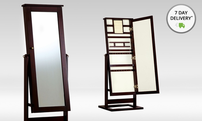 Hives and Honey Standing Cheval Jewelry Armoire with Mirror: Hives and Honey Standing Cheval Jewelry Armoire with Mirror