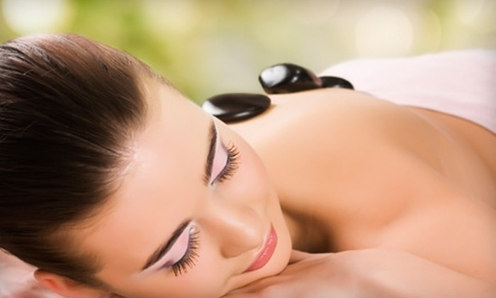 Athena Day Spa - Vancouver: $65 for Salt Soak, Stone Massage, Aromatherapy, and Cooling Eye Treatment at Amazing Touch in Athena Day Spa in Vancouver