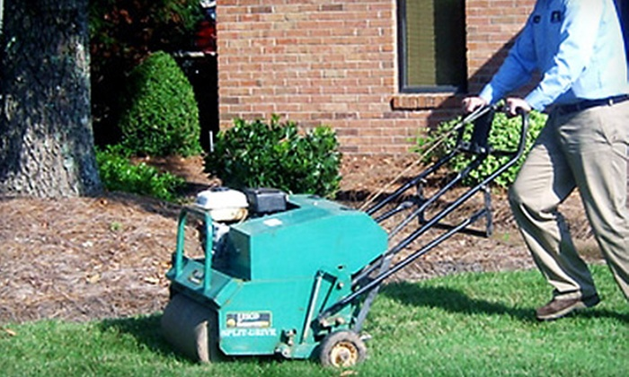 Blackwood Landscaping - Huston - Courtland: $99 for Lawn Aeration and Fertilization from Blackwood Landscaping ($250 Value)