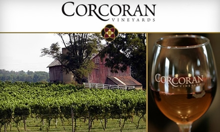 Corcoran Vineyards - Catoctin: $20 for a Wine-and-Cheese Tasting for Two, Plus Two Wine Glasses and a $10 Credit, at Corcoran Vineyards in Waterford, VA ($40 Value)