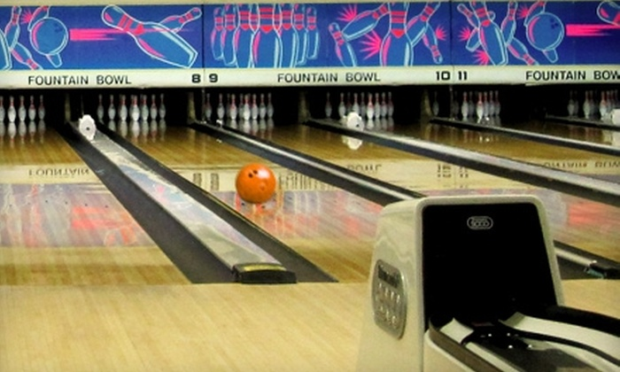 Fountain Bowl - Fountain Hills: $29 for Three Games of Bowling and Shoe Rental for Four, Plus $7 for Snacks at Fountain Bowl in Fountain Hills ($81 Value)