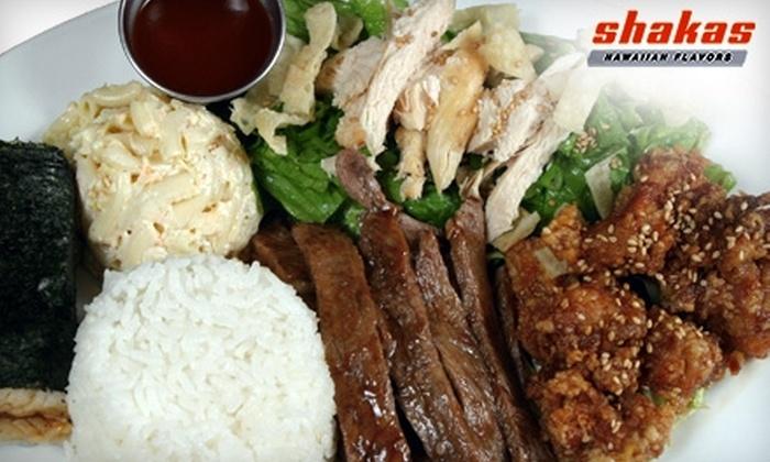 Shakas Hawaiian Flavors - Alhambra: $10 for $20 Worth of Fare at Shakas Hawaiian Flavors in Alhambra