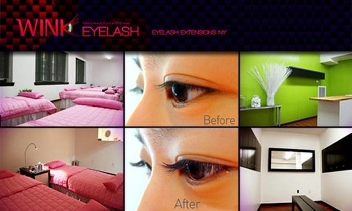 WINK Eyelash - Garment District: $45 for a Set of WINK Eyelash Extensions ($95 Value)