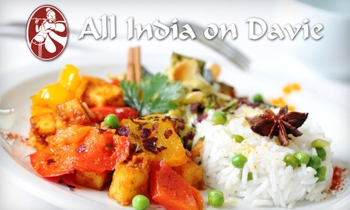 All India on Davie - West End: $12 for $25 Worth of Indian Fare at All India on Davie