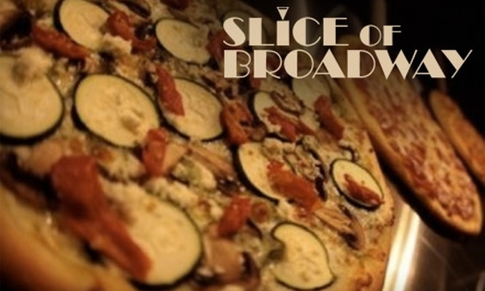 Slice Of Broadway - Southwestern Sacramento: $7 for $15 Worth of Pizza, Drinks, and More at Slice of Broadway
