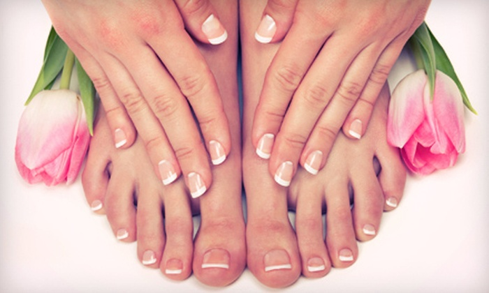Beauty and Beyond Personal Enhancement Center - West Arlington: $27 for a Spa Mani-Pedi at Beauty and Beyond Personal Enhancement Center in Arlington ($65 Value)